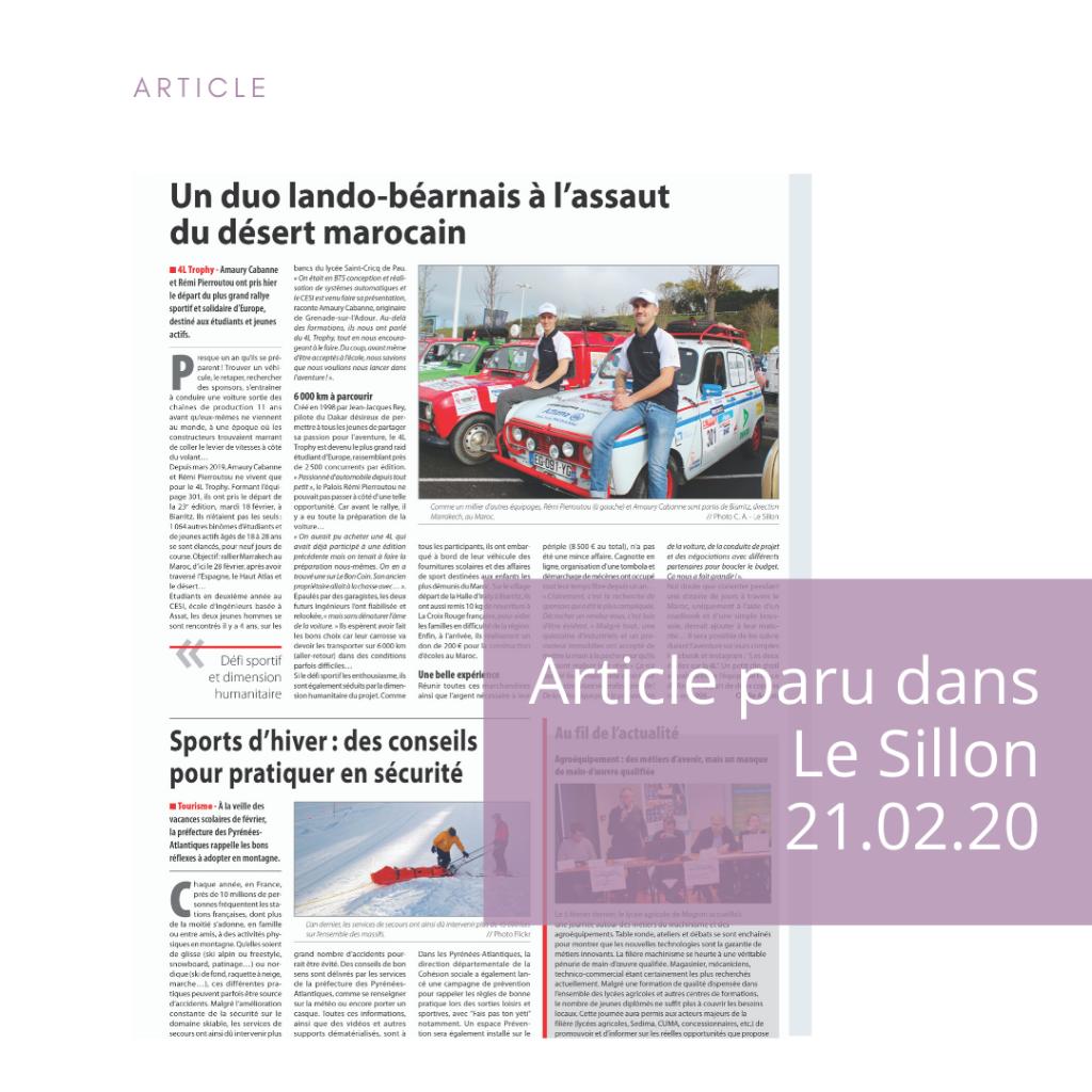 Article dans Le Sillon